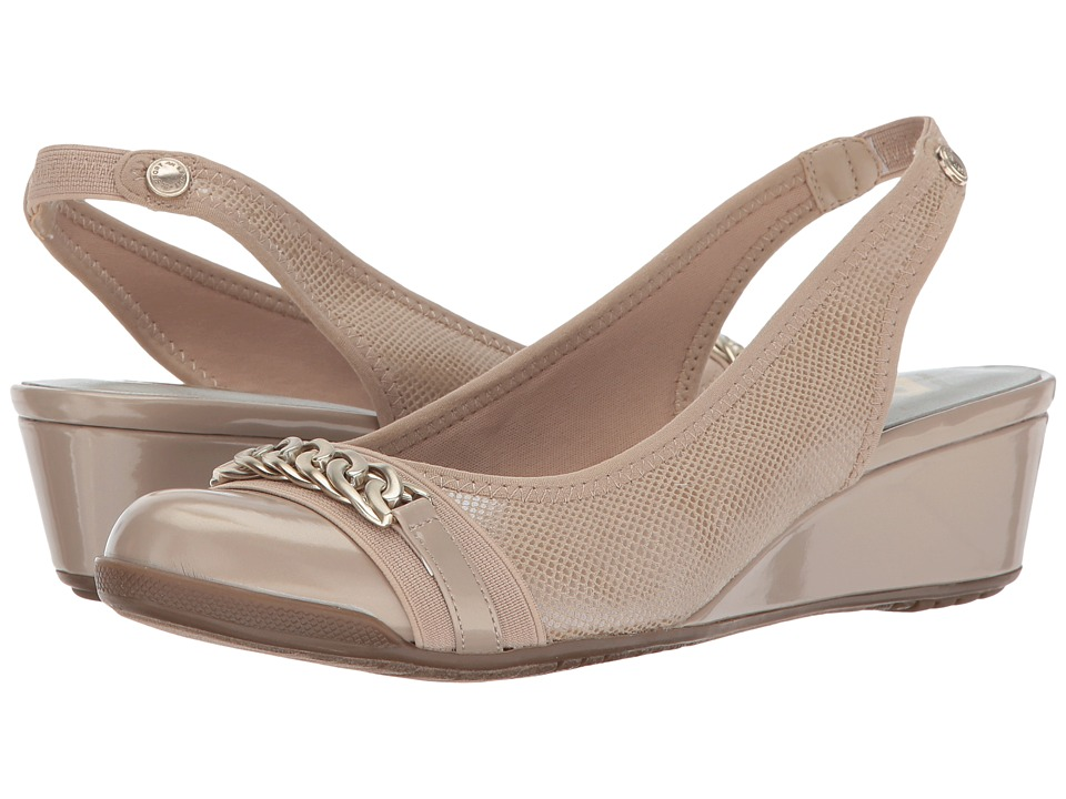 Anne Klein - Curve (Light Natural Fabric) Women's Shoes