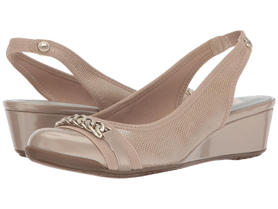 Anne Klein - Curve (Light Natural Fabric) Women's Shoes