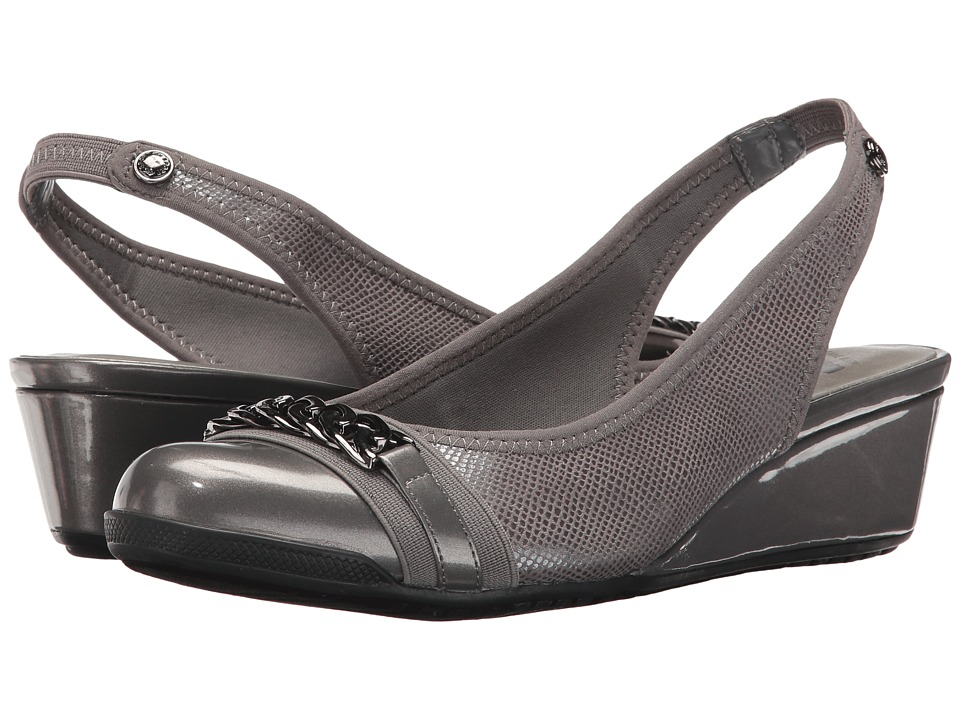 Anne Klein - Curve (Pewter Fabric) Women's Shoes
