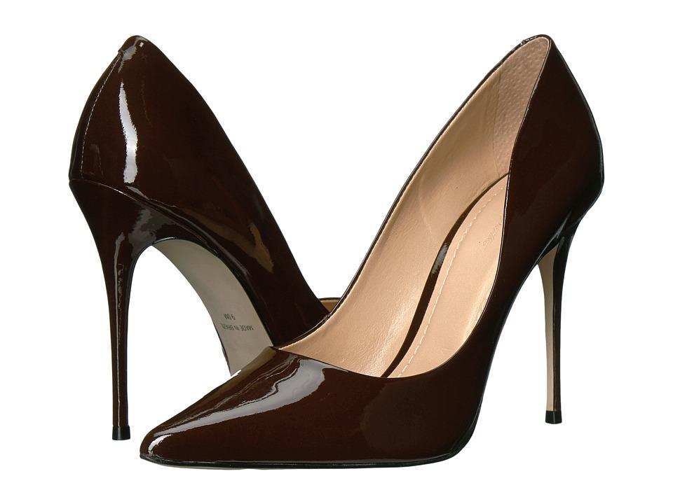 Massimo Matteo Pointy Toe Pump 17 (Dark Brown Patent) Women