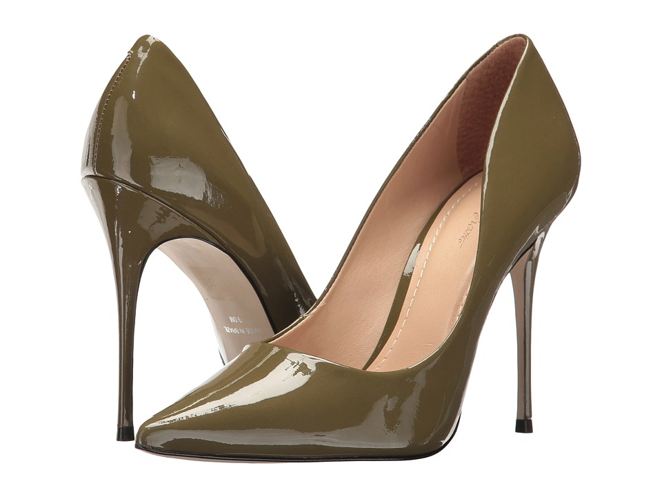 Massimo Matteo - Pointy Toe Pump 17 (Military Patent) Women's Shoes