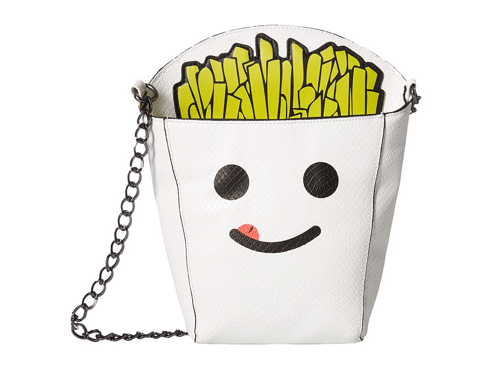 Circus by Sam Edelman - Fries B4 Guys Crossbody Bag (White/Black/Screenprinted) Cross Body Handbags