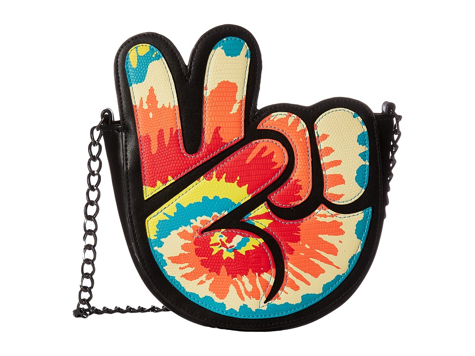 Circus by Sam Edelman - Peace Out Crossbody Bag (Black/White/Screenprinted) Cross Body Handbags