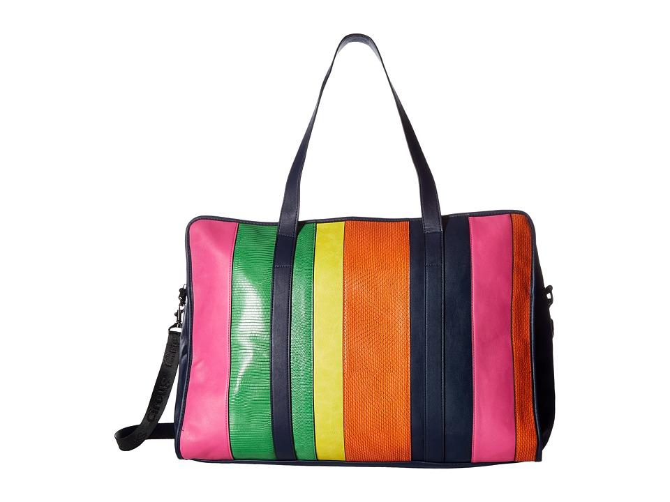 Circus by Sam Edelman - Freya Weekender Bag (Navy/Pink/Green/Yellow/Orange) Weekender/Overnight Luggage