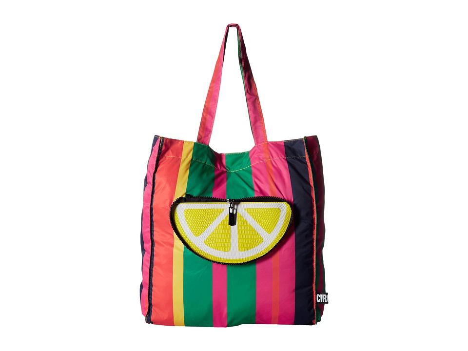 Circus by Sam Edelman - Tori Tote (Fruit Salad/Pink/Yellow/Screenprinted) Tote Handbags