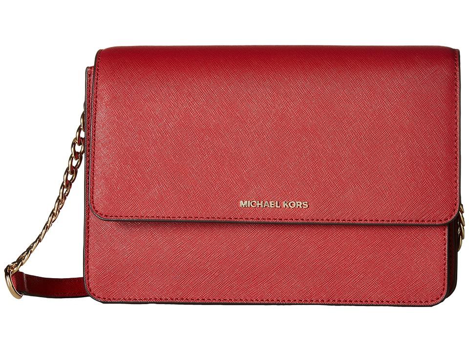 MICHAEL Michael Kors - Daniela Large Crossbody (Burnt Red) Cross Body Handbags