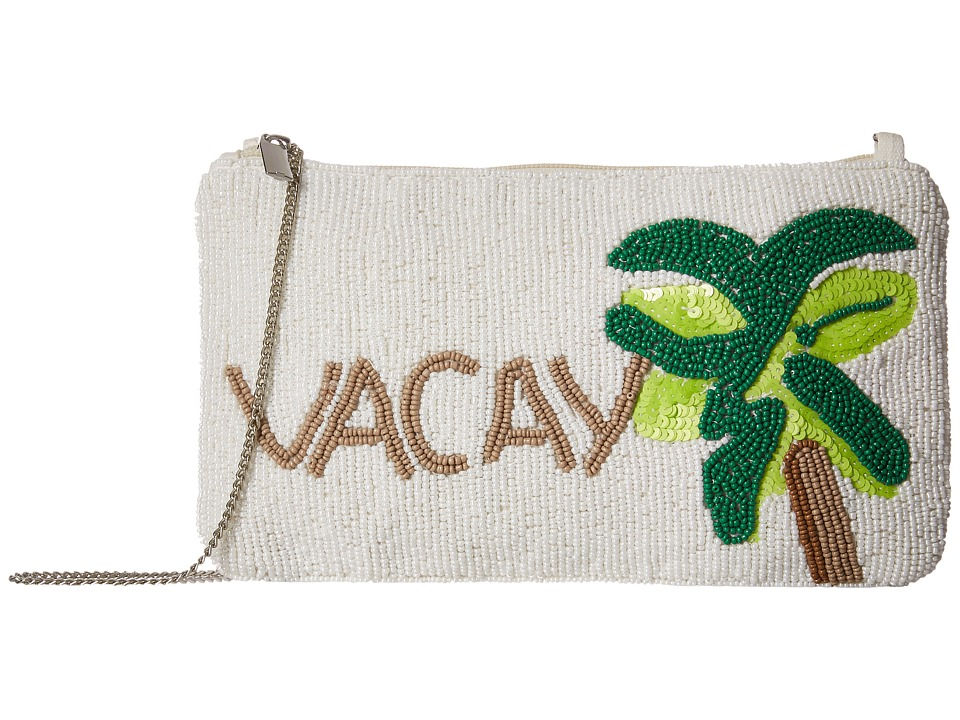 Circus by Sam Edelman - Vacay Clutch (White Gold/Green) Wallet