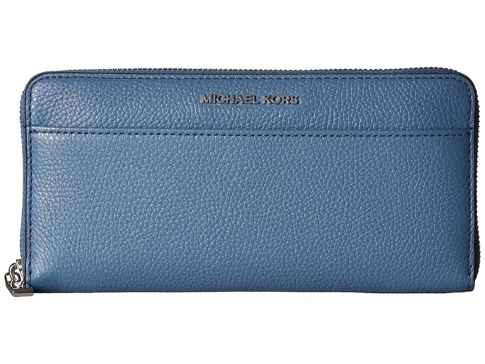 MICHAEL Michael Kors - Mercer Pocket Zip-Around Continental (Denim) Continental Wallet