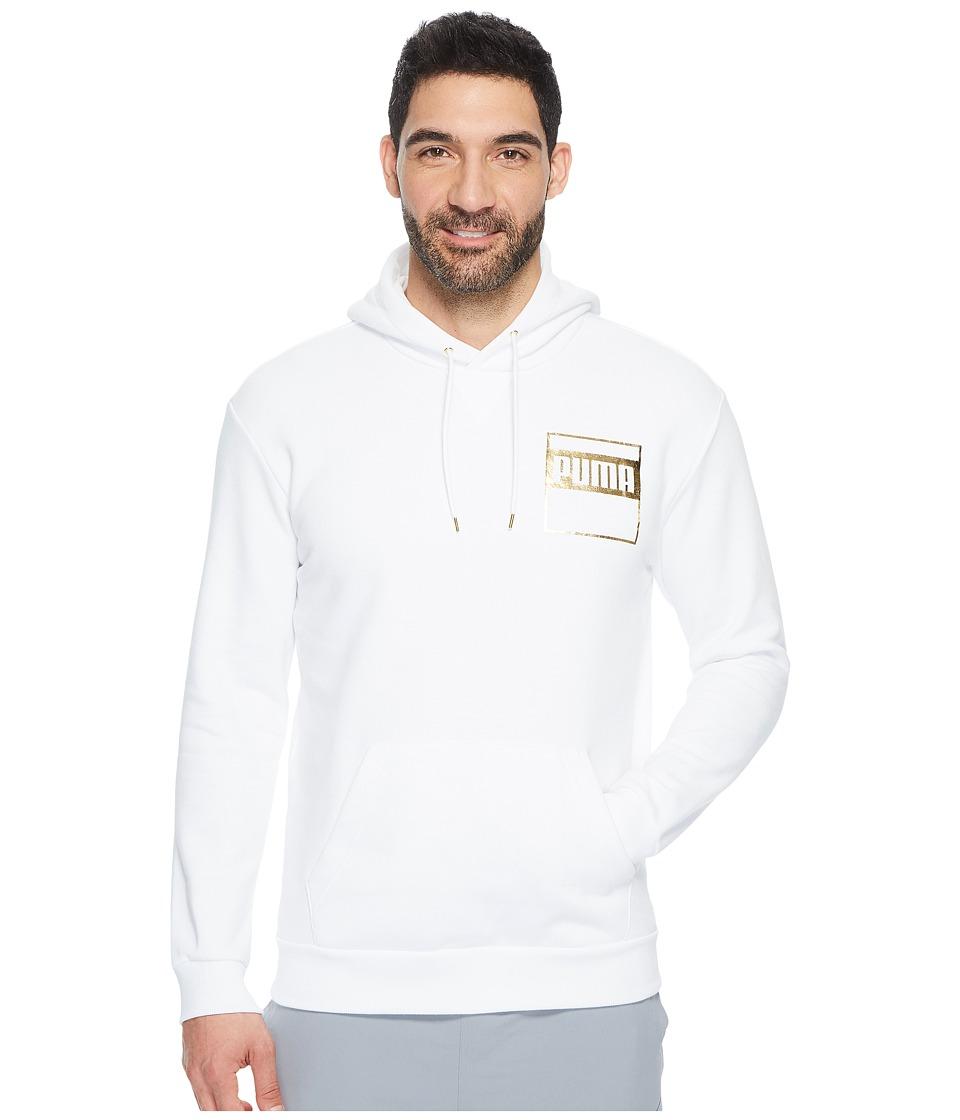 PUMA Rebel Gold Hoodie Fleece (PUMA White) Men