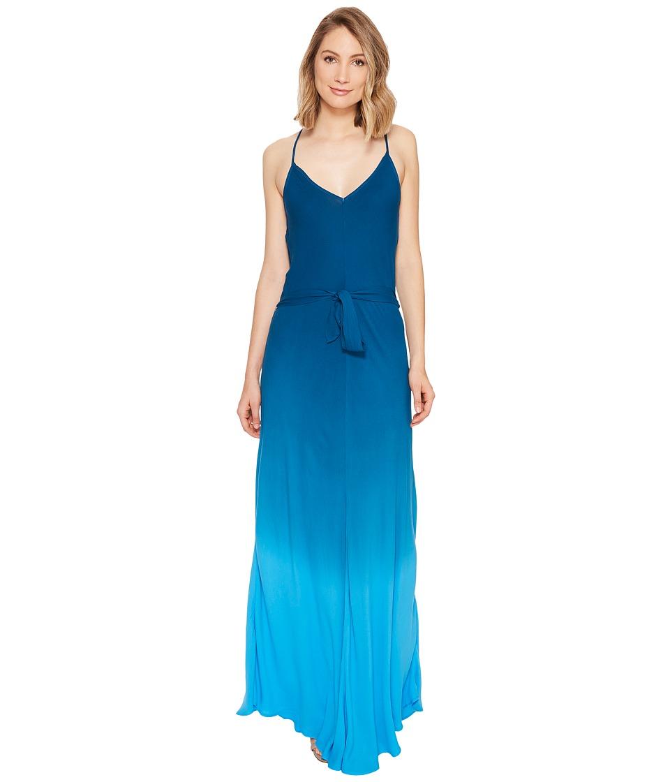 Young Fabulous & Broke Carla Maxi Pool Blue-Ombre Dress
