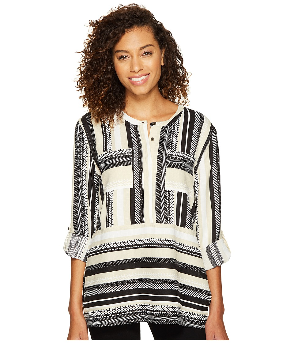 ROMEO & JULIET COUTURE - Double Pocket Stripe Tunic (Black/Cream) Women's Clothing