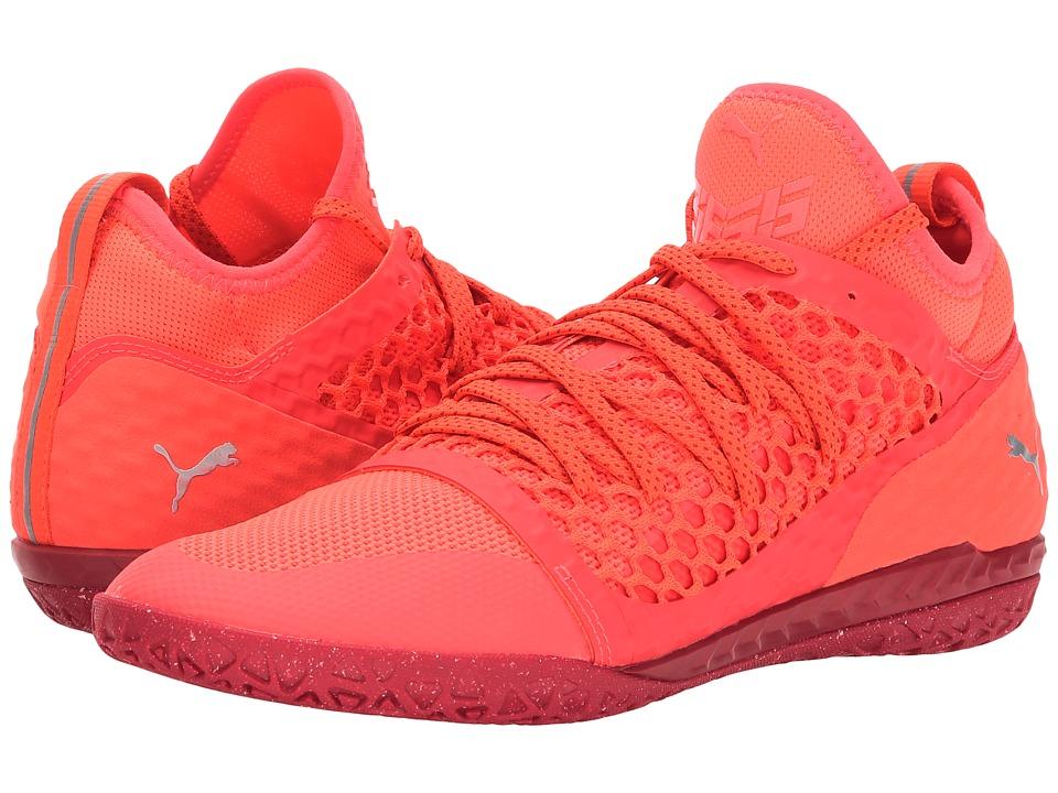 PUMA - 365 Ignite Netfit CT (Fiery Coral/PUMA White/Toreador) Men's Shoes