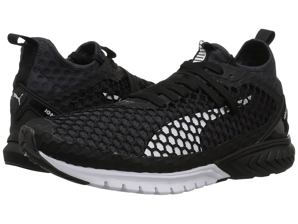 PUMA - Ignite Dual Netfit (Puma Black/Quiet Shade) Men's Shoes