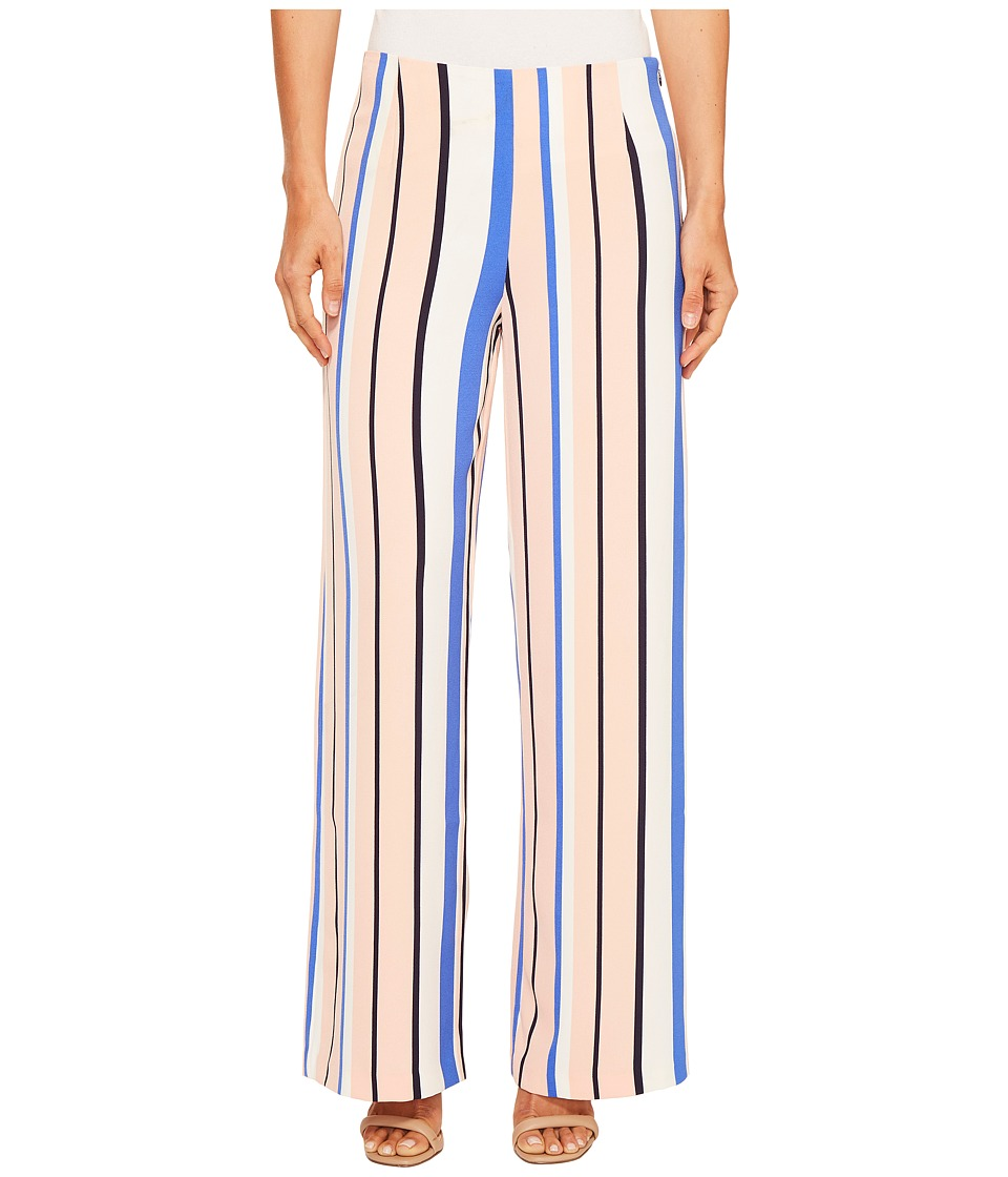 ROMEO & JULIET COUTURE - Multicolor Stripe Wide Pants (Pink Combo) Women's Casual Pants