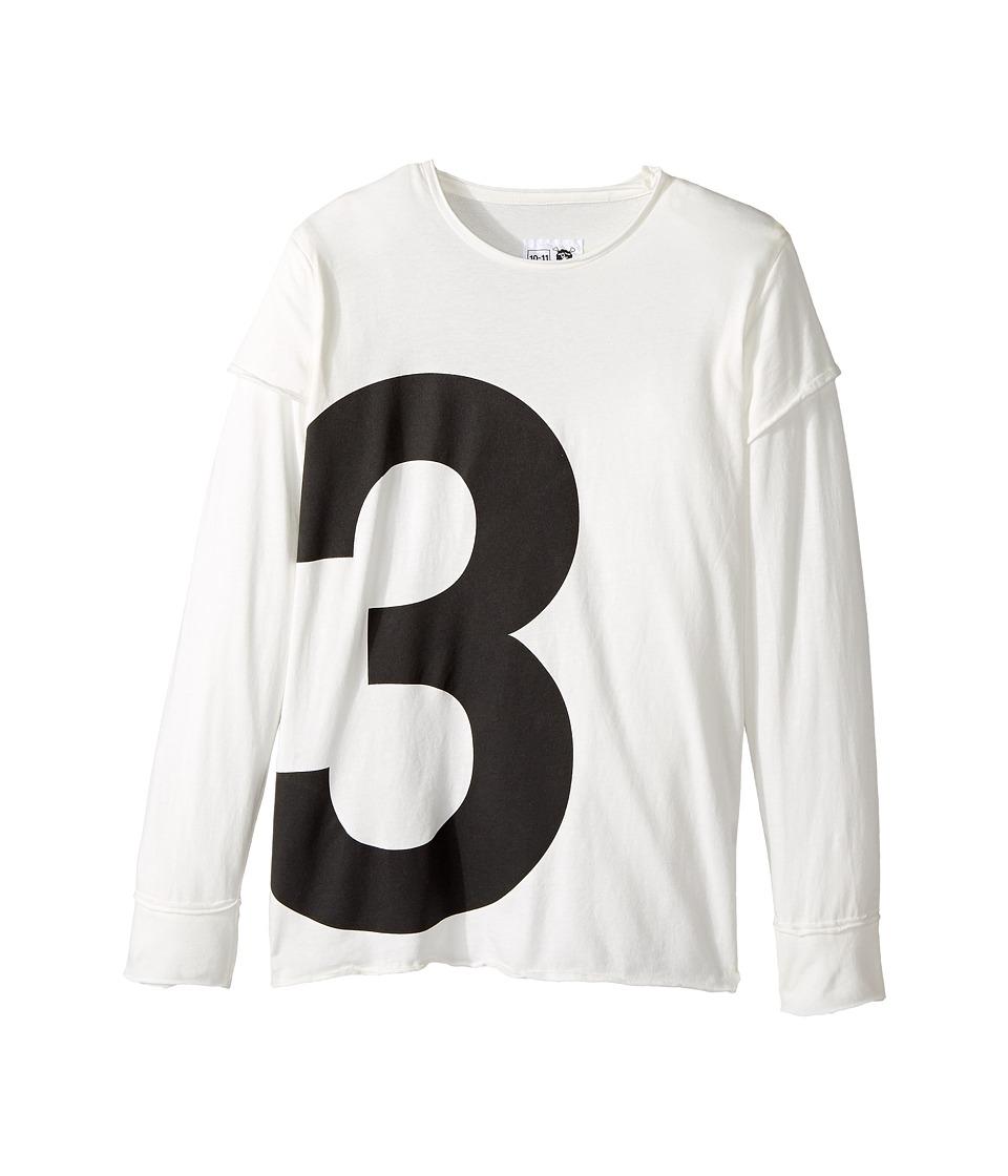 Nununu - Number T-Shirt (Little Kids/Big Kids) (White) Kid's T Shirt
