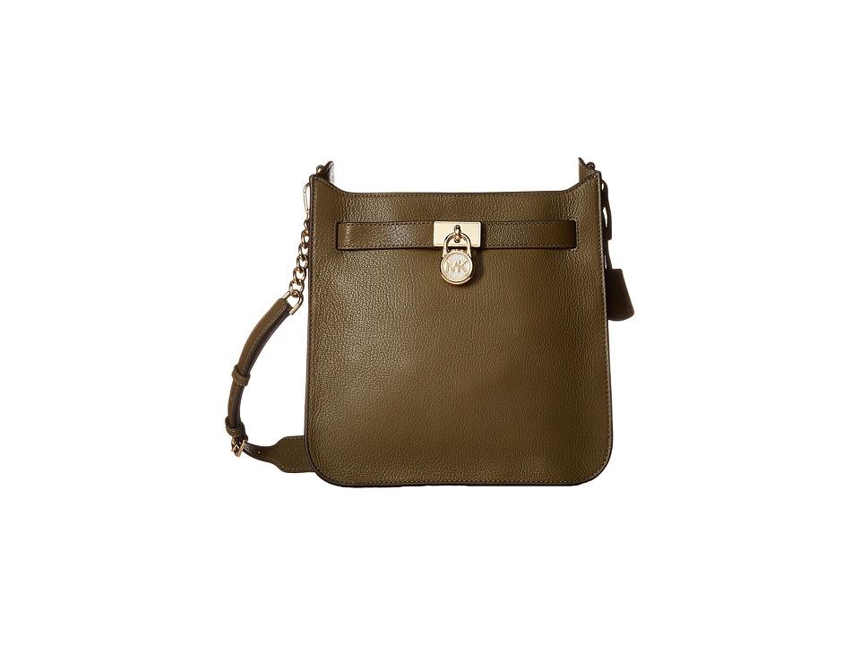 MICHAEL Michael Kors - Hamilton Medium North/South Messenger (Olive) Messenger Bags