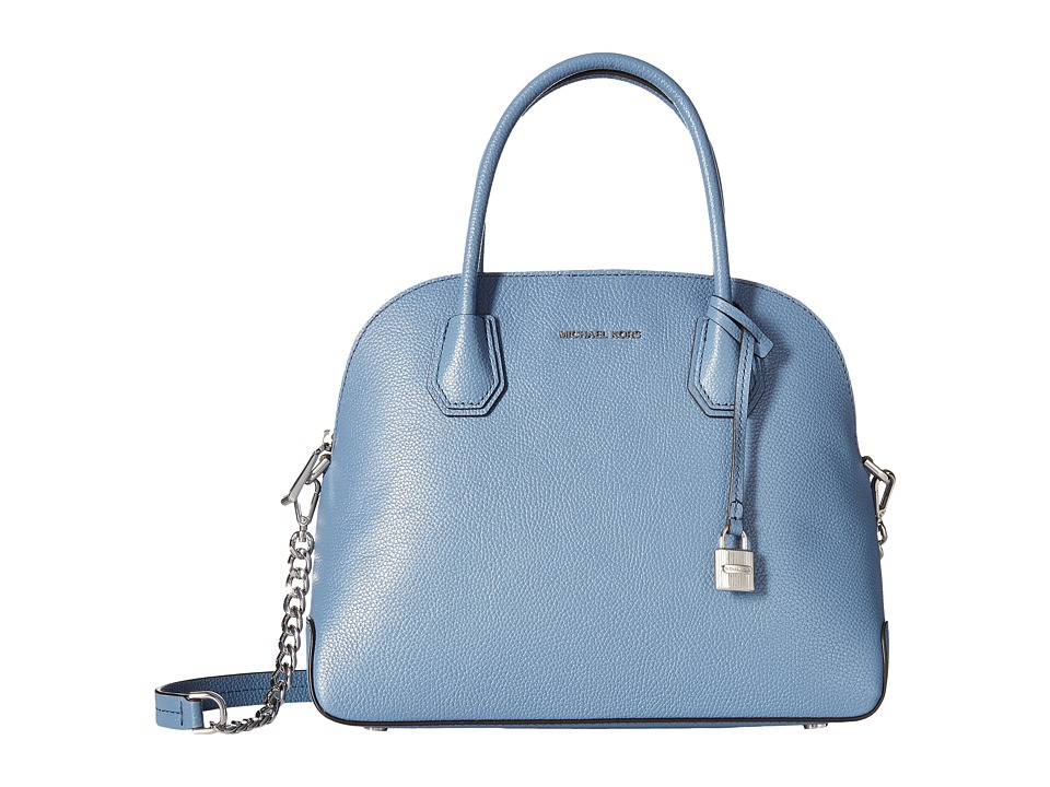 MICHAEL Michael Kors - Mercer Large Dome Satchel (Denim) Satchel Handbags