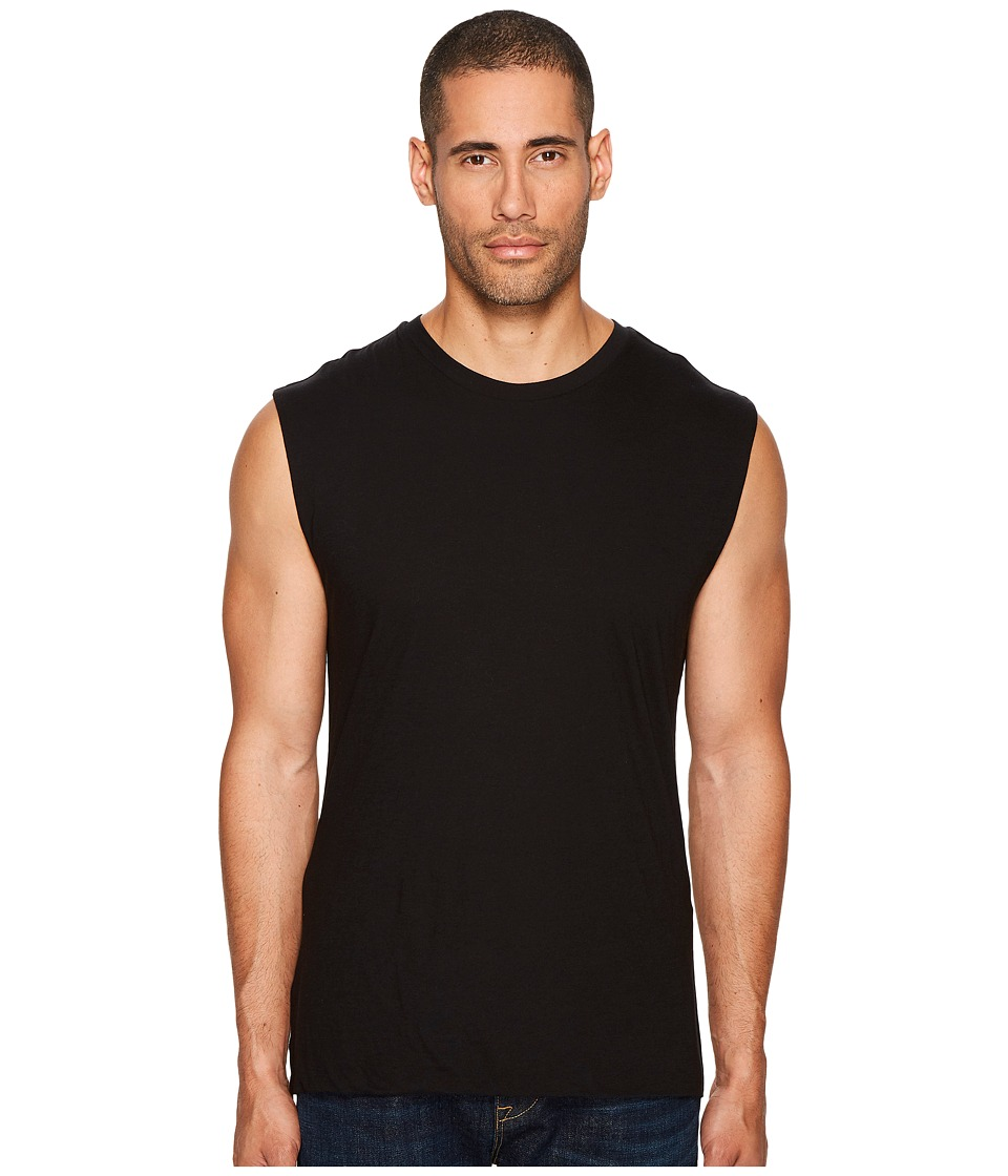 Vince - Seamless Double Layer Tank Top (Black) Men's Sleeveless