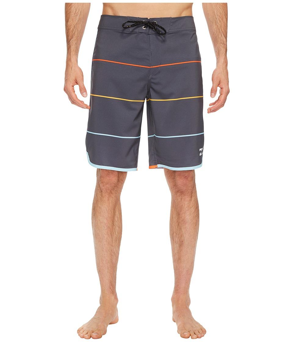 Billabong 73 X Stripe Boardshorts (Charcoal) Men