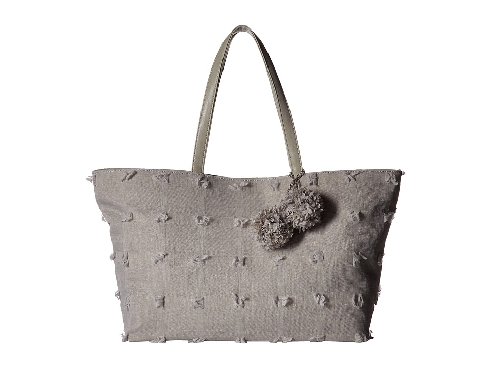 Deux Lux - Blossoms Tote (Grey) Tote Handbags