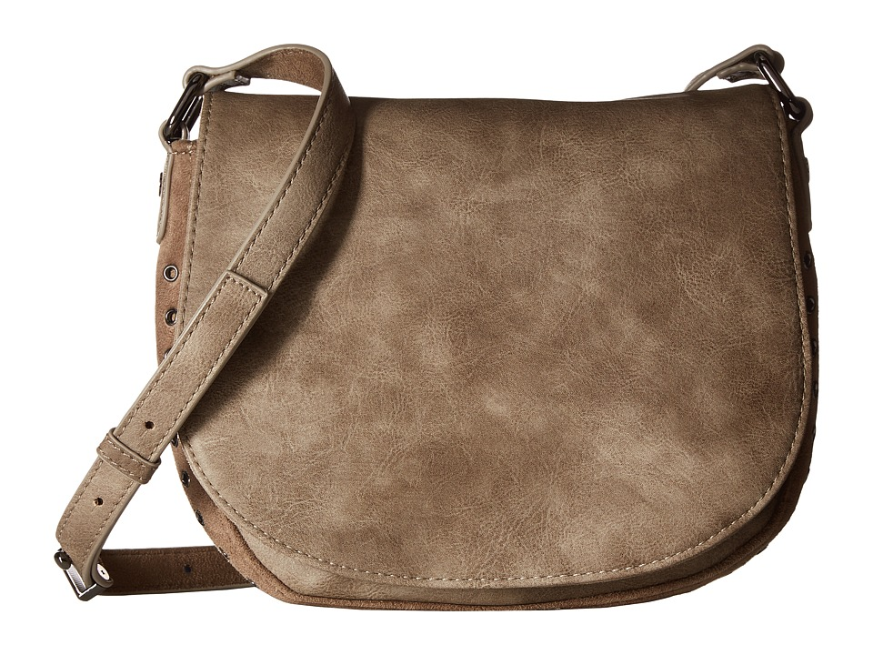 Deux Lux - Patina Saddle Bag (Smoke) Shoulder Handbags