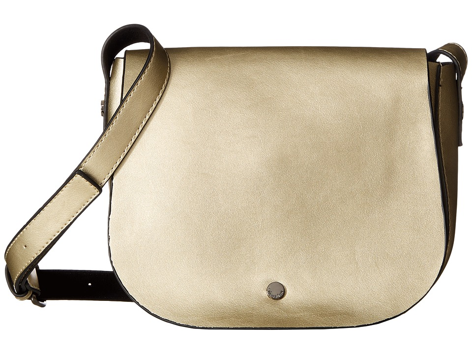 Deux Lux - Cortina Saddle Bag (Gold) Shoulder Handbags