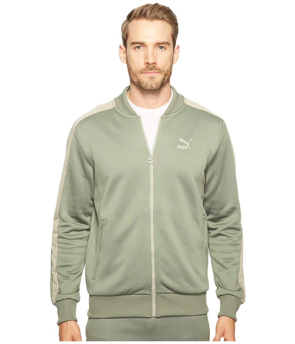 PUMA - T7 Bomber Jacket (Agave Green/Vintage Khaki) Men's Coat
