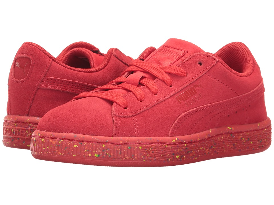 Puma Kids - Suede Classic Multi Splatter (Toddler/Little Kid/Big Kid) (High Risk Red) Kids Shoes