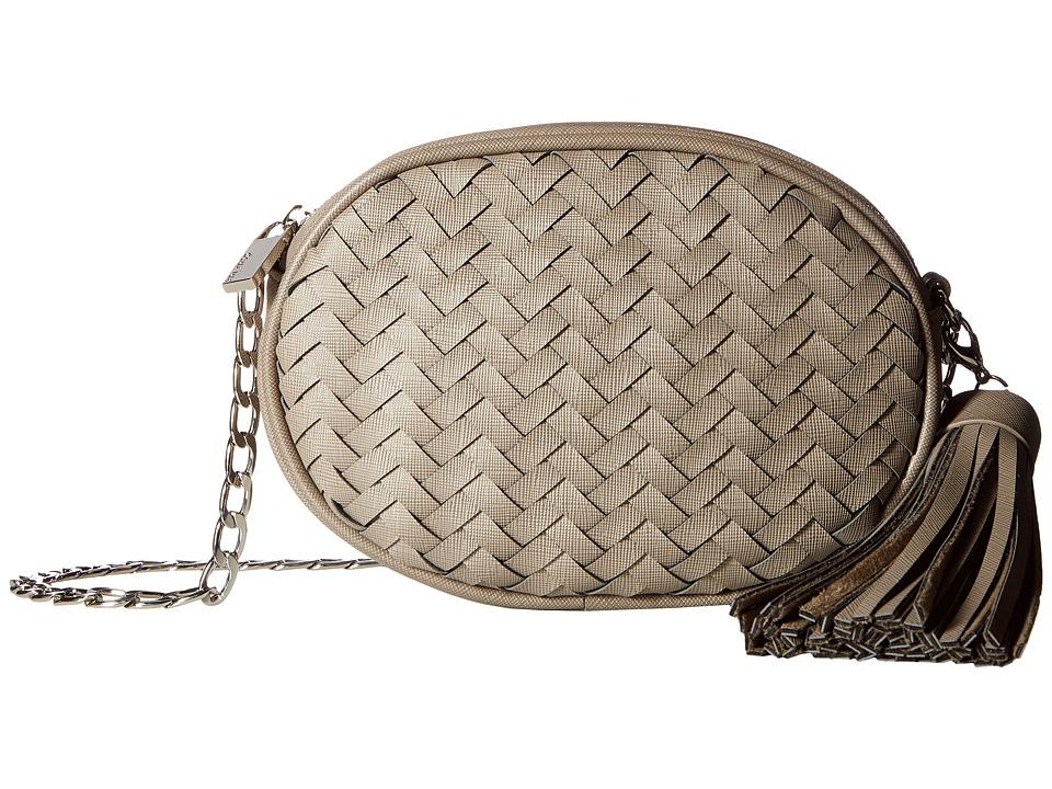 Deux Lux Mott Oval Messenger (Grey) Messenger Bags