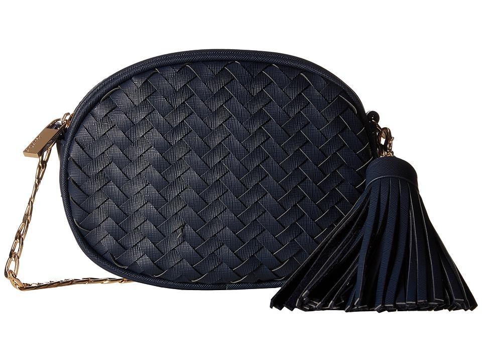 Deux Lux Mott Oval Messenger (Navy) Messenger Bags