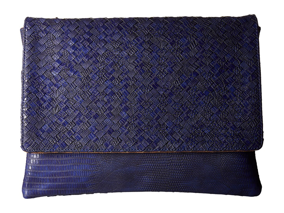 Deux Lux - Reade Chain Clutch (Cobalt/Cobalt/Academy) Clutch Handbags