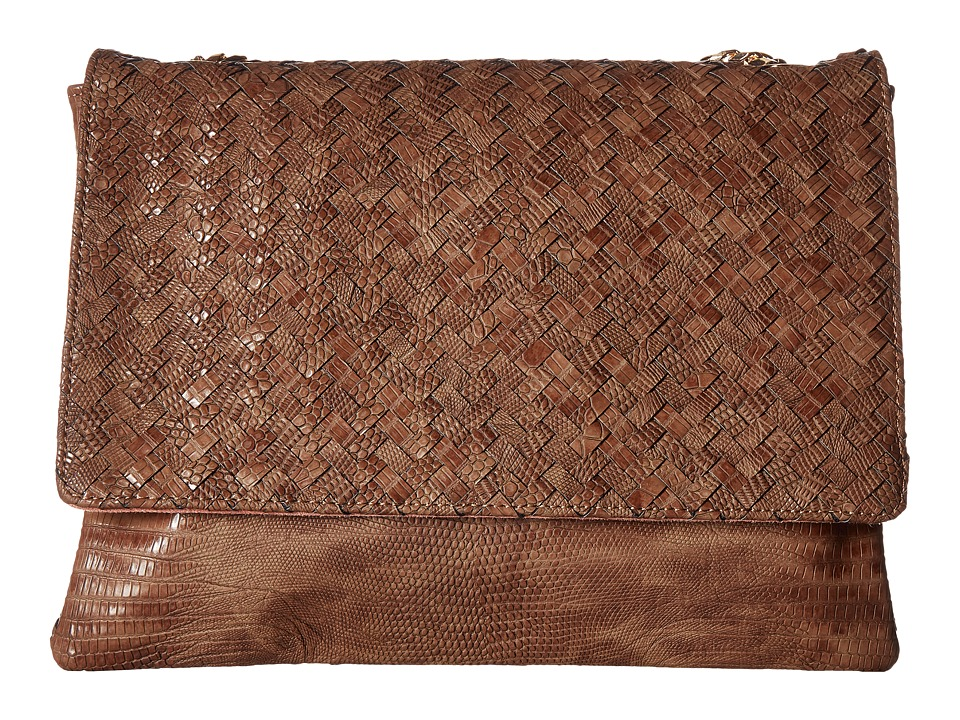 Deux Lux - Reade Chain Clutch (Cocoa) Clutch Handbags