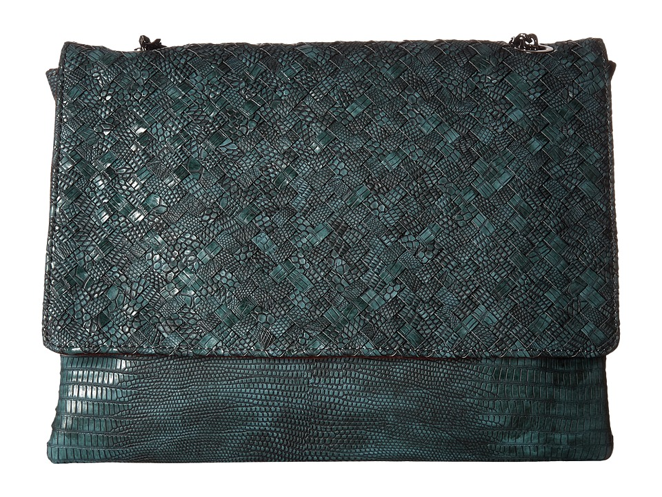 Deux Lux - Reade Chain Clutch (Teal) Clutch Handbags