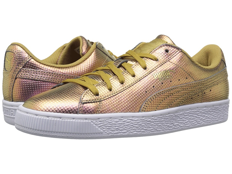 PUMA - Basket Classic Holographic (Gold) Men's Shoes