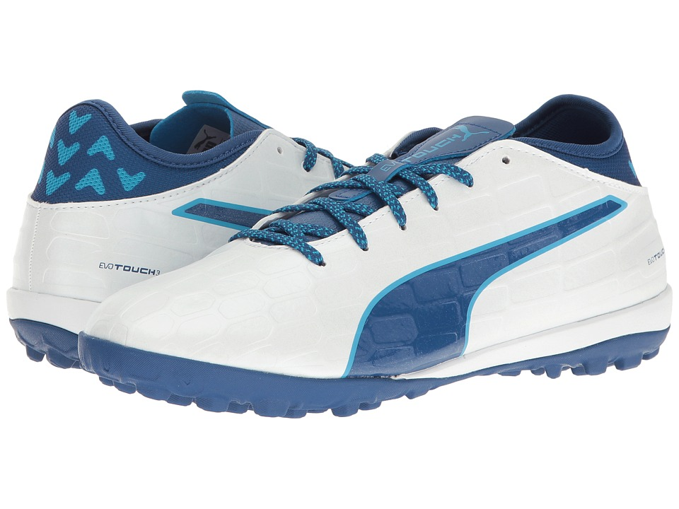 PUMA - evoTOUCH 3 TT (Puma White/True Blue/Blue Danube) Men's Shoes