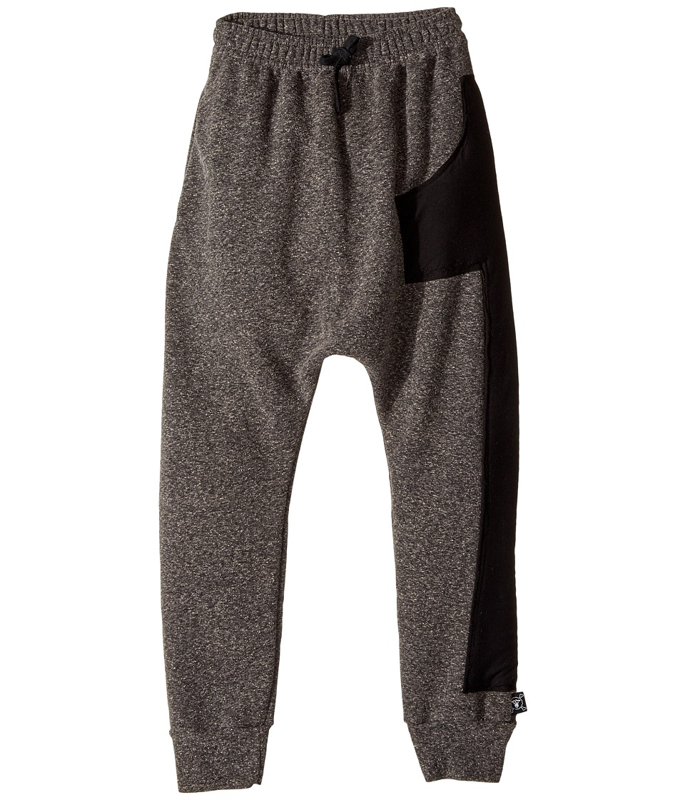 Nununu - Puffy Numbered Baggy Pants (Little Kids/Big Kids) (Charcoal) Boy's Casual Pants