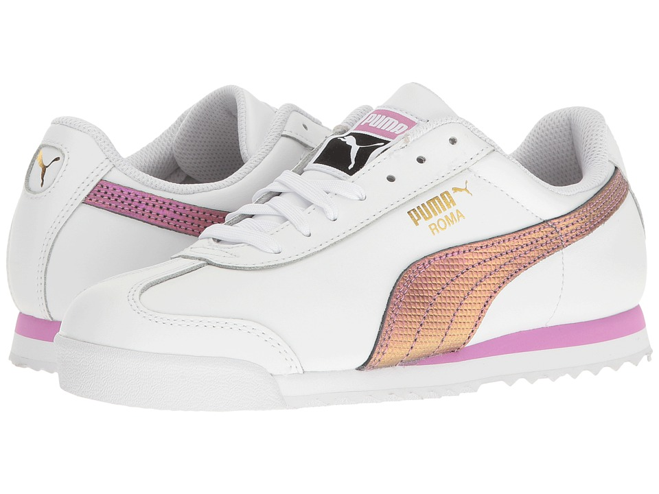 PUMA - Roma Classic Holo (Puma White/Gold) Men's Shoes