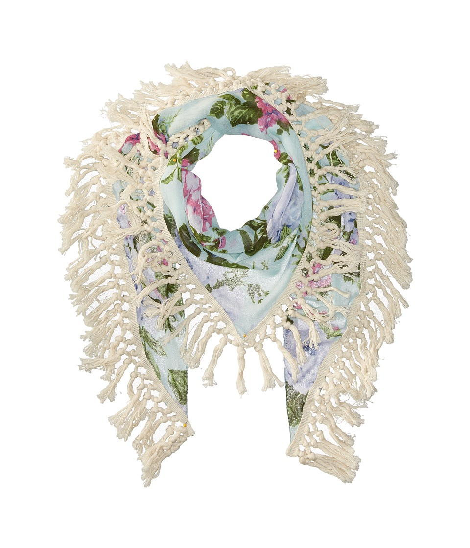 Steve Madden - Keep Blooming Oversize (Light Blue) Scarves
