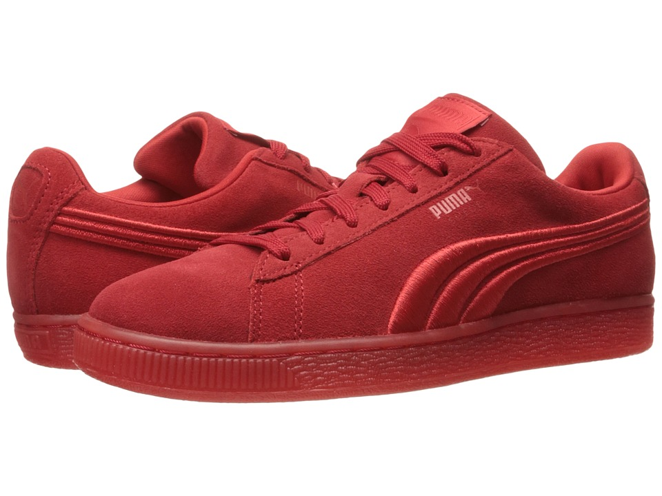 PUMA - Suede Classic Badge Iced (High Risk Red) Men's Shoes