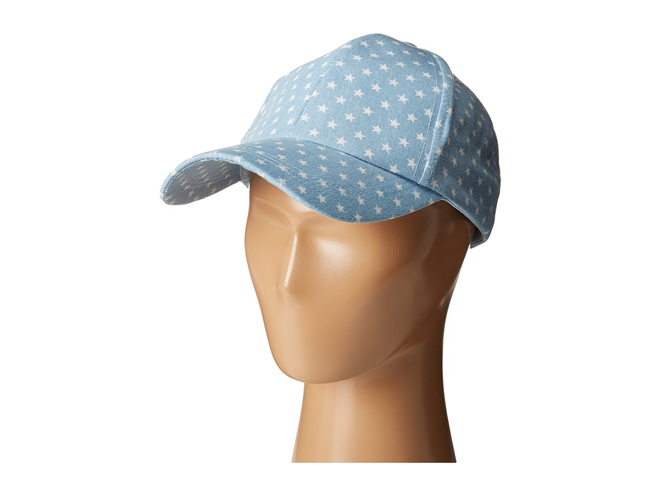 Steve Madden - Lucky Stars Baseball Cap (Light Denim) Caps
