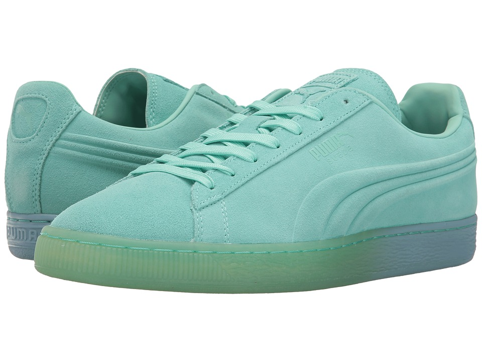 PUMA - Suede Emboss Iced Fade (Holiday/Cool Blue) Men's Shoes