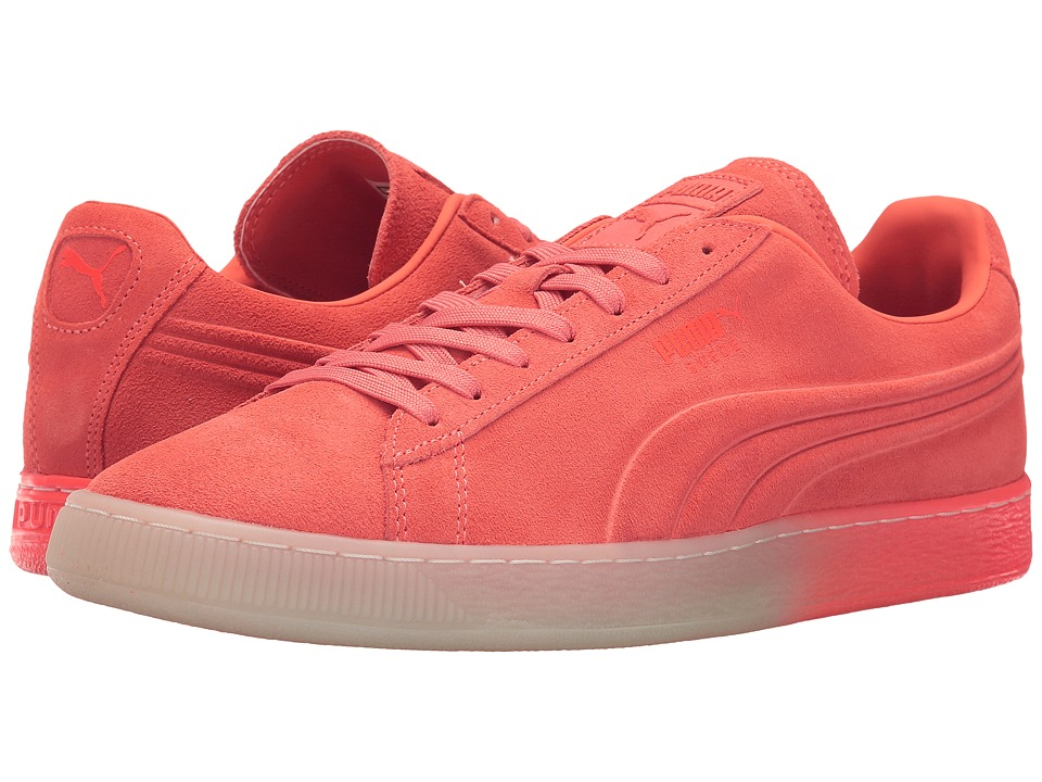 PUMA - Suede Emboss Iced Fluo Fade (Fluo Peach) Men's Shoes