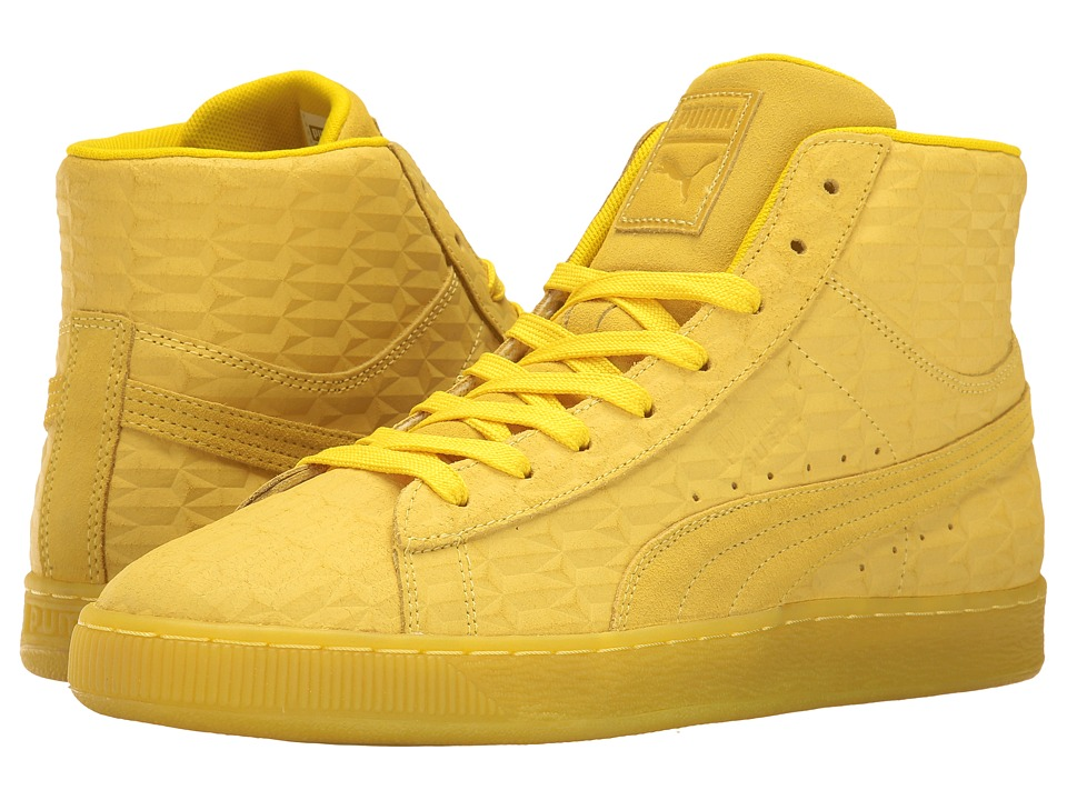 PUMA - Suede Mid Me Iced (Buttercup/White) Men's Shoes
