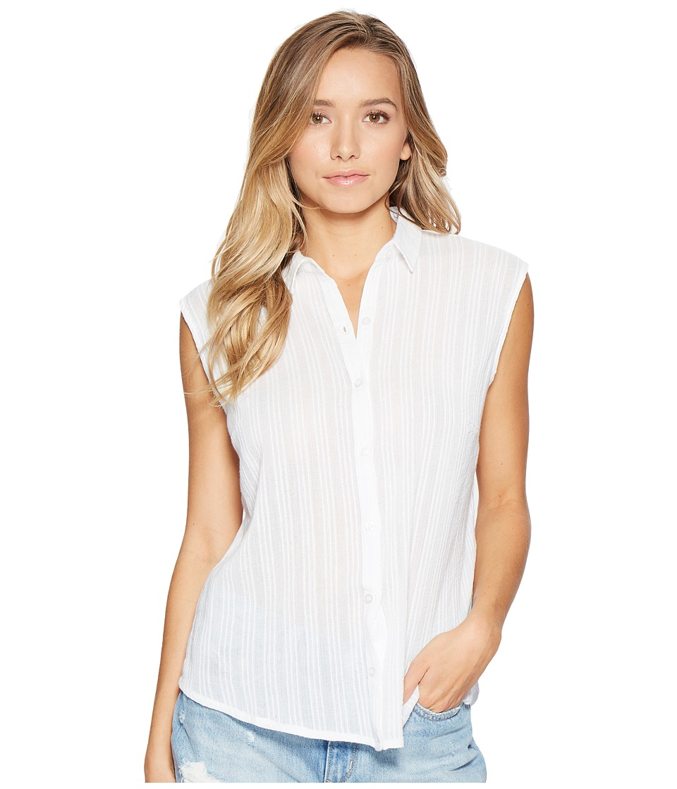 Obey - Isle Shirt (White) Women's Short Sleeve Button Up