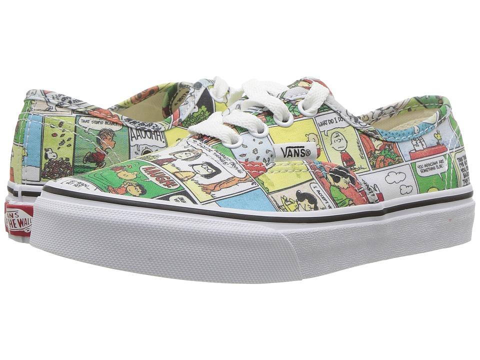 Vans Kids Authentic x Peanuts (Little Kid/Big Kid) ((Peanuts) Comics/Black/True White) Kids Shoes