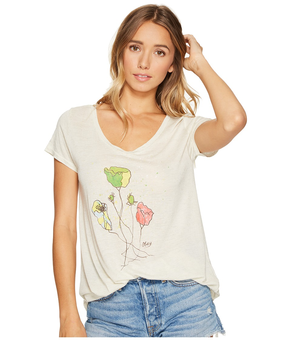 Obey - Simon Flower Tee (Cobblestone) Women's T Shirt