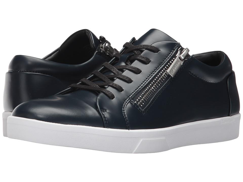 Calvin Klein Ibrahim (Dark Navy Box Leather) Men