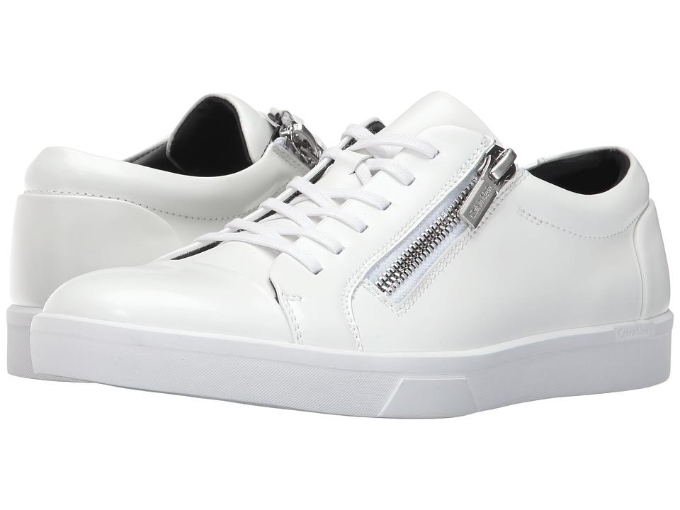 Calvin Klein - Ibrahim (White Box Leather) Men's Shoes