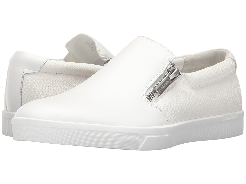 Calvin Klein Ibiza (White Nappa Smooth Calf/Emboss Soft Leather) Men