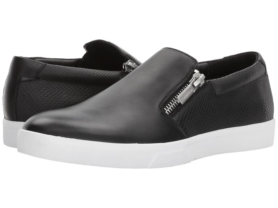 Calvin Klein Ibiza (Black Nappa Smooth Calf/Emboss Soft Leather) Men